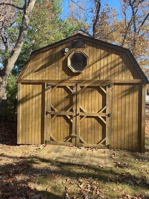 Campsite 102 shed exterior